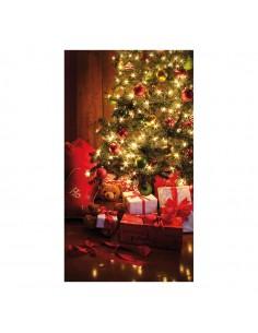 Banner-foto decoración navideña para la decoración del fondo decorativo en los escaparates de tiendas