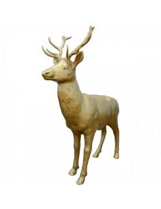 Figura ciervo para la decoración navideña de centros comerciales calles tiendas