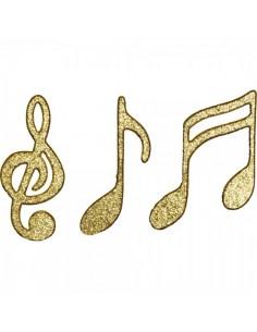Notas musicales para la decoración navideña de centros comerciales calles tiendas