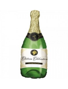 Globo de aluminio botella de champán para la decoración navideña de centros comerciales calles tiendas