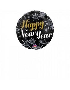Globo de aluminio Happy New Year  para la decoración navideña de centros comerciales calles tiendas