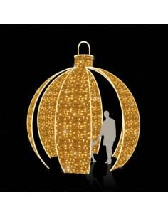 Bola Navidad gigante cerrada Objeto luz  para la decoración en navidad fachadas calles centros comerciales tiendas