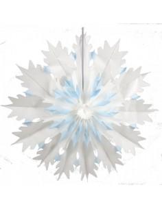 Copo de nieve de papel plegable para la decoración navideña de centros comerciales calles tiendas