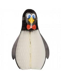 Pingüíno de papel plegable para la decoración navideña de centros comerciales calles tiendas