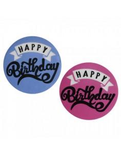 Cartel Happy Birthday  para la decoración de fiestas populares y escaparates