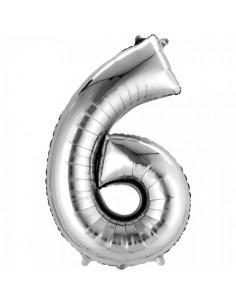Globo aluminio Núm. 6 para la decoración de fiestas populares y escaparates