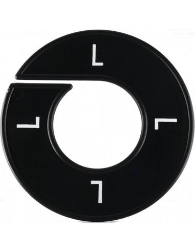 Disco tallas L  para el interior de espacios de tiendas o comercios