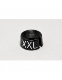 Etiqueta de tamaño XXL para el interior de espacios de tiendas o comercios