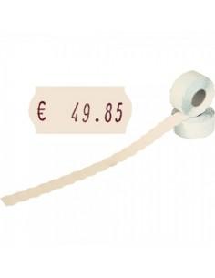 Rollo de etiquetas adhesivas para el interior de espacios de tiendas o comercios