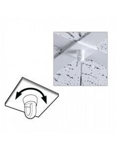 Gancho adhesivo giratorio para el interior de espacios de tiendas o comercios