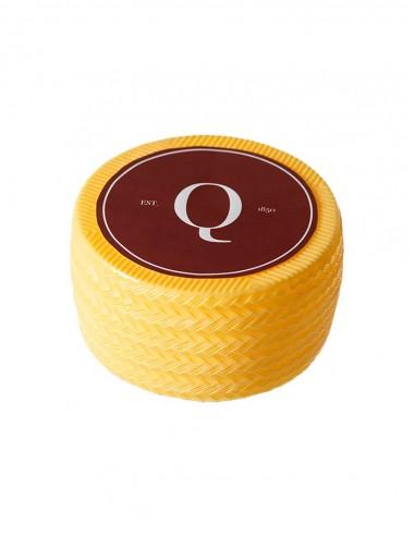 Imitación queso manchego oreado Ø19x10cm, ficticio de queso manchego, réplica de queso manchego, queso de plástico