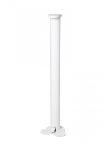 Dispensador de gel desinfectante hidroalcohólico con pulsador de pie prevencion COVID-19 blanco 75x190cm,