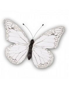 Mariposa blanco 30x22cm