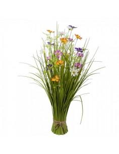Manojo de hierba de caña silvestre con flores para escaparates de primavera en tiendas y centros comerciales