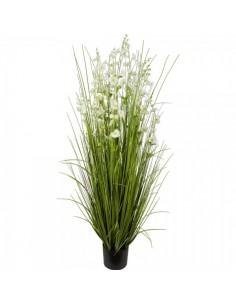 Manojo de hierba silvestre con flor para escaparates de primavera en tiendas y centros comerciales