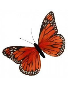 Mariposas con plumas naranja 30x18cm