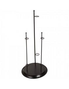 Base de metal redonda 3 orificios para la decorar en primavera centros comerciales y escaparates