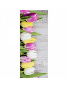 Banner-poster-poster de tulipanes para la decorar en primavera centros comerciales y escaparates
