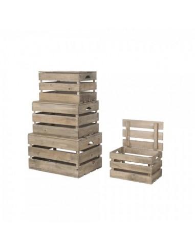 Caja de listones de madera con tapa superior para la decorar en primavera centros comerciales y escaparates