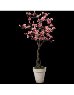 Árbol de magnolia para escaparates de primavera en tiendas y centros comerciales