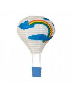 Globo aerostático de papel estampado arcoíris para la decorar en primavera centros comerciales y escaparates