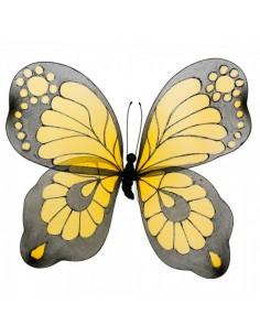 Mariposa pintada a mano amarillo Ø80x60cm