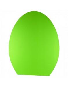 Huevo 2d con la base plana para escaparates de pastelerías en pascua de semana santa