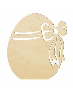 Huevo de pascua 2d perfilado con lazo para escaparates de pastelerías en pascua de semana santa