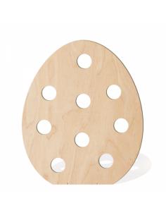 Huevo de pascua 2d perfilado con topos para escaparates de pastelerías en pascua de semana santa