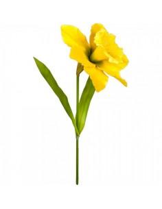 Flor narciso con tallo para escaparates de pastelerías en pascua de semana santa