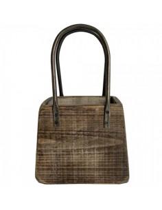Bolso con asas retro de madera para la decorar en primavera centros comerciales y escaparates