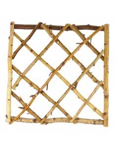 Ventana-marco de ramas de abedul para escaparates en verano de tiendas o comercios