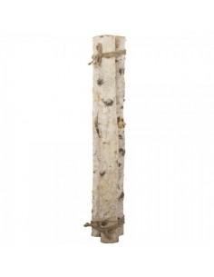 Fardo de leña de 3 troncos gruesos de abedul para escaparates en verano de tiendas o comercios