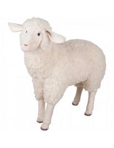 Peluche de oveja ovis de pie xl para la decorar espacios y escaparates de verano con mamíferos y aves