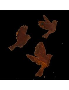 Siluetas de pájaros volando de metal para escaparates en verano de tiendas o comercios