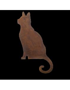 Figura de gato efecto óxido para la decorar espacios y escaparates de verano con mamíferos y aves