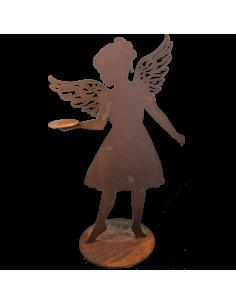 Figura de ángel efecto óxido para la decorar espacios y escaparates de verano con mamíferos y aves