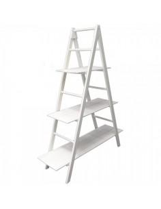 Estantería escalera pirámide decorativa con 3 baldas para escaparates en verano de tiendas o comercios