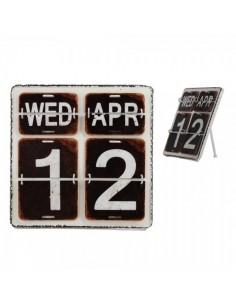 Calendario vintage perpeturo con números partidos para escaparates en verano de tiendas o comercios