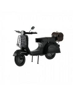 Moto vespa decorativa de metal para escaparates en verano de tiendas o comercios