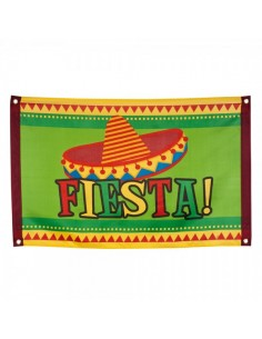Bandera fiesta mexicana para escaparates en verano de tiendas o comercios