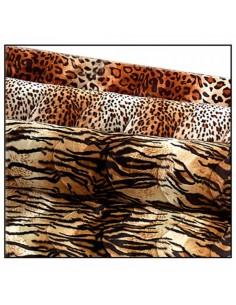 Tela de piel imitación de tigre para escaparates en verano de tiendas o comercios