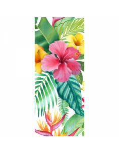 Banner-poster pintura de flores y hojas a Para la decoración de escaparates de tiendas