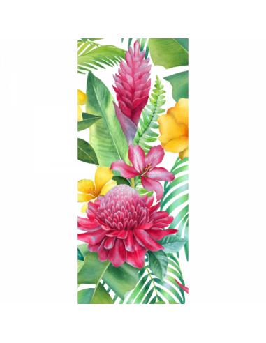 Banner-poster pintura de flores y hojas B foto 75x180cm