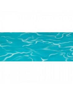 Lámina imitación al agua del caribe para escaparates en verano de tiendas o comercios