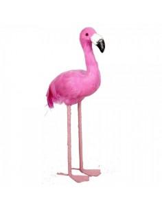 Flamenco de pie tamaño pequeño para la decorar espacios y escaparates de verano con mamíferos y aves