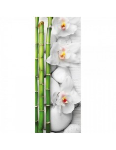 Banner-poster de bambú y flores Para la decoración de escaparates de tiendas