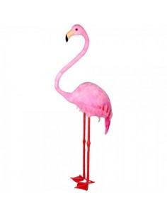 Flamenco de pie tamaño grande para la decorar espacios y escaparates de verano con mamíferos y aves