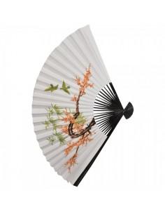 Abanico de papel de seda estampado de flores para escaparates en verano de tiendas o comercios