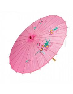 Paraguas de papel de seda asiático para escaparates en verano de tiendas o comercios